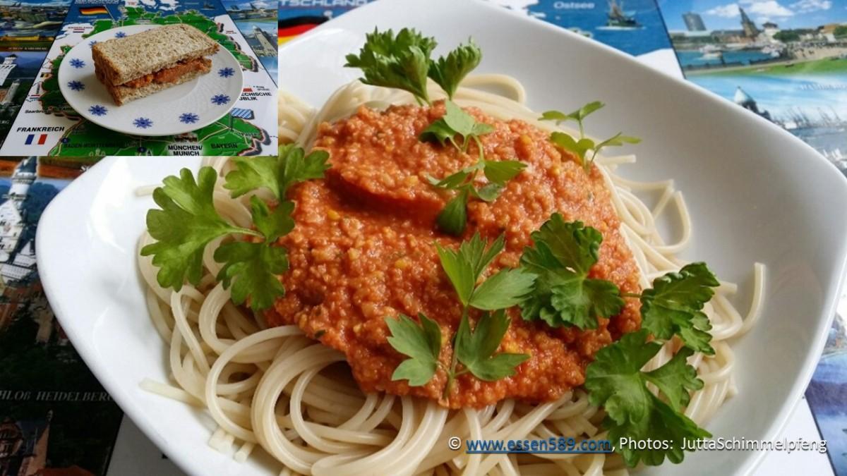 Spaghetti Sauce und Brotaufstrich - Küchenexperimente mit Süßlupinensamen