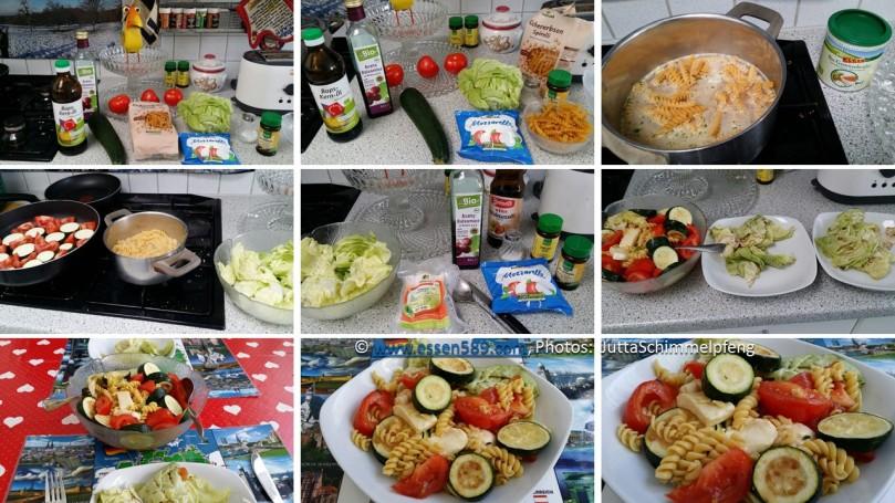 Schnelle Küche: Warm-kalter Nudelsalat mit Zucchini und Tomaten ...