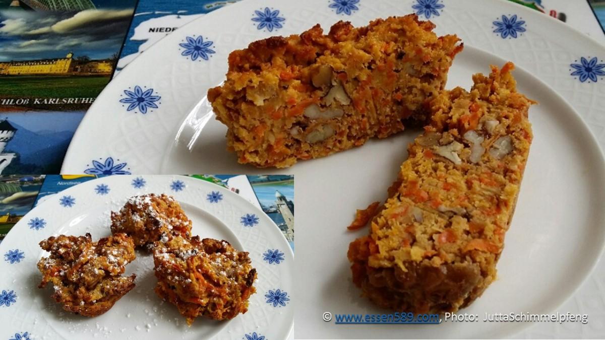 Vegan: Mandel-Kokos-Möhren-Walnuss Kekse und ein süßes Brot