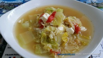 Gemischter Blattsalat (warm/kalt) mit Paprika und Chinakohl – Was ...