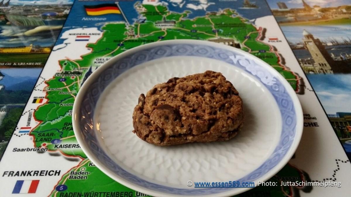 Schokoladige Schokokekse oder Chocolate Brownie Cookies